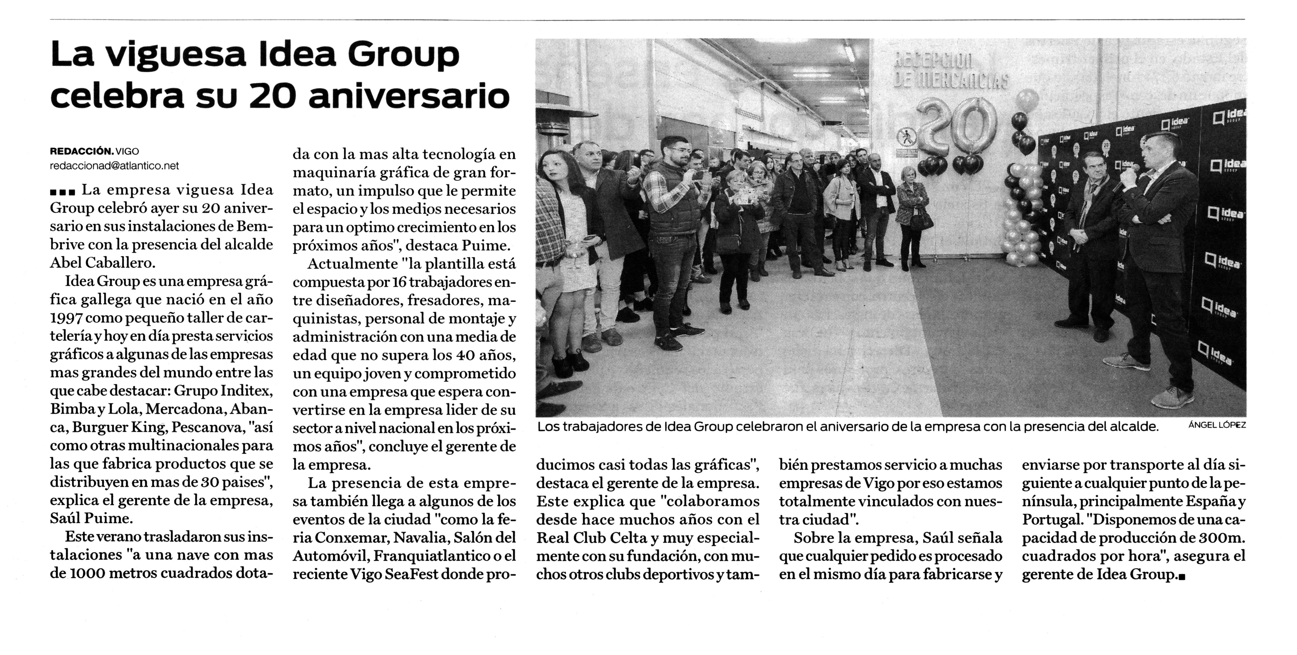 noticia atlantico diario aniversario ideagroup